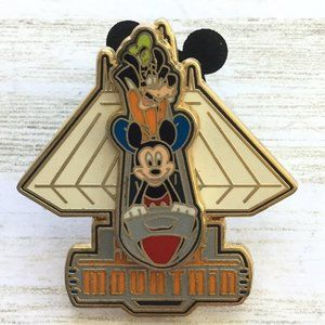 Disney Trading Pin Space Mountain Mickey & Goofy S
